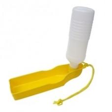 Cestovní láhev s miskou žlutá 500 ml
