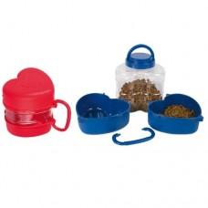 Cestovní set modrý (2 misky + box na granule)